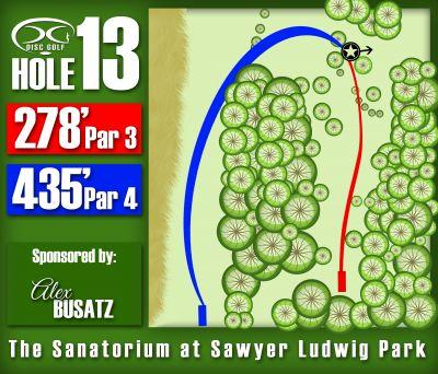 Sawyer Ludwig, Main course, Hole 13 Hole sign