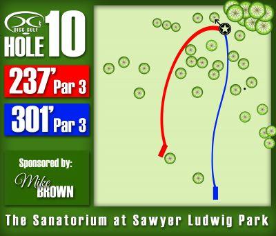 Sawyer Ludwig, Main course, Hole 10 Hole sign