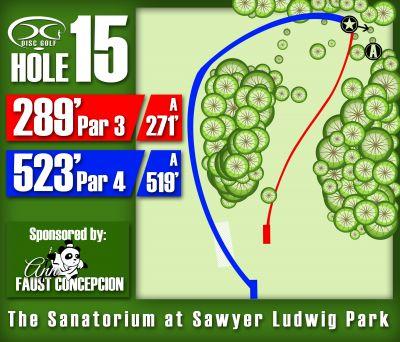 Sawyer Ludwig, Main course, Hole 15 Hole sign