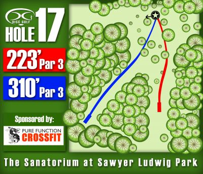 Sawyer Ludwig, Main course, Hole 17 Hole sign