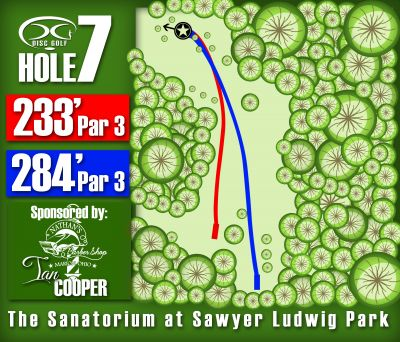Sawyer Ludwig, Main course, Hole 7 Hole sign