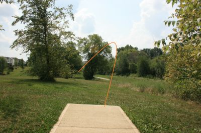 Marysville DGC, Main course, Hole 17 Tee pad