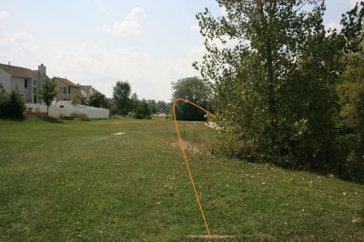 Marysville DGC, Main course, Hole 18 Long tee pad
