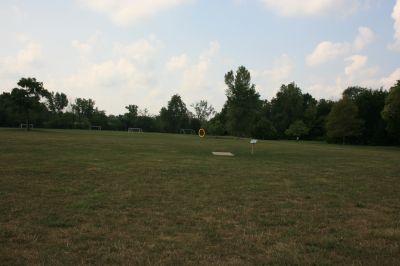 Marysville DGC, Main course, Hole 1 Long tee pad