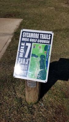 Sycamore Trails, Main course, Hole 7 Hole sign