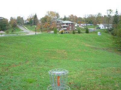 Muskingum College, Main course, Hole 4 Reverse (back up the fairway)