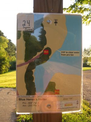 Great Blue Heron, Main course, Hole 21 Hole sign