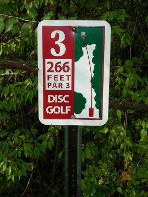 Miami University, Main course, Hole 3 Hole sign