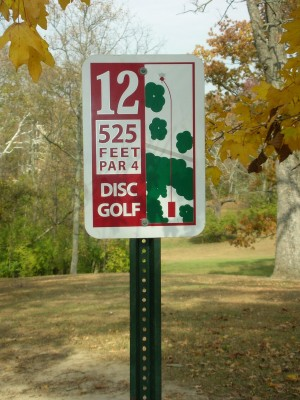 Miami University, Main course, Hole 12 Hole sign