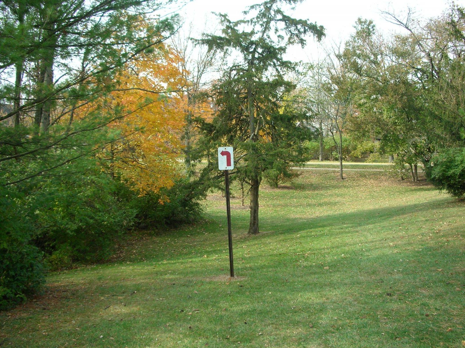 hole 7 u2022 miami university oxford oh disc golf courses disc