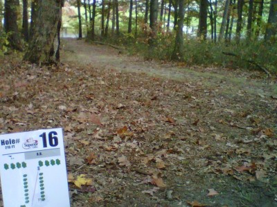 Veterans Memorial Park, Mike Broda Memorial DGC, Hole 16 Tee pad