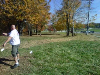 Veterans Memorial Park, Mike Broda Memorial DGC, Hole 10 Hole sign