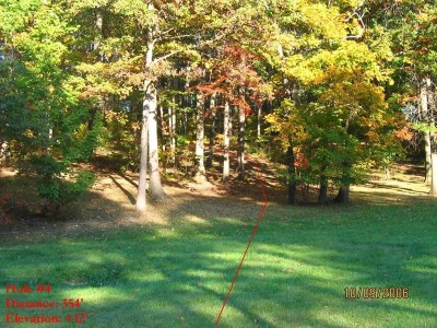 Veterans Memorial Park, Mike Broda Memorial DGC, Hole 4 Tee pad
