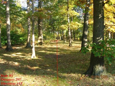 Veterans Memorial Park, Mike Broda Memorial DGC, Hole 5 Tee pad