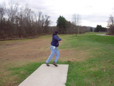 Forked Run State Park, Main course, Hole 19 Tee pad