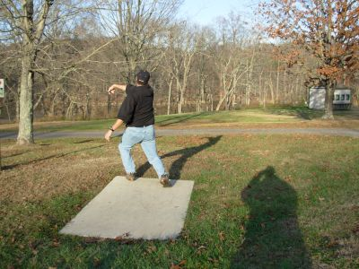 Forked Run State Park, Main course, Hole 16 Tee pad