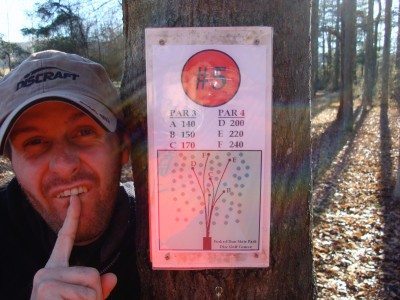 Forked Run State Park, Main course, Hole 5 Hole sign