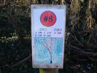 Forked Run State Park, Main course, Hole 8 Hole sign