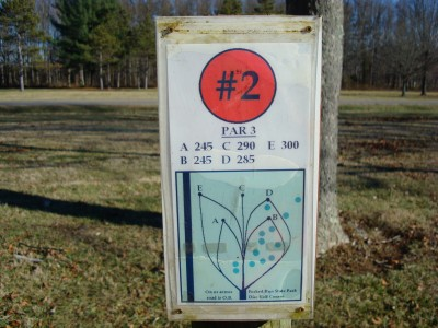 Forked Run State Park, Main course, Hole 2 Hole sign
