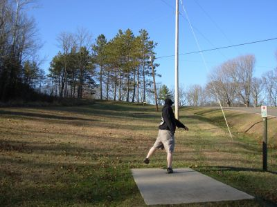 Forked Run State Park, Main course, Hole 10 Tee pad