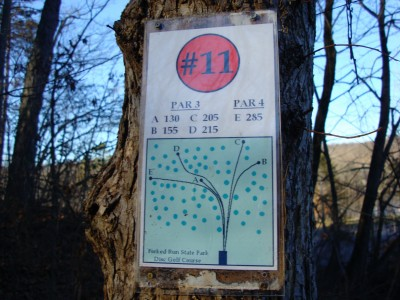 Forked Run State Park, Main course, Hole 11 Hole sign