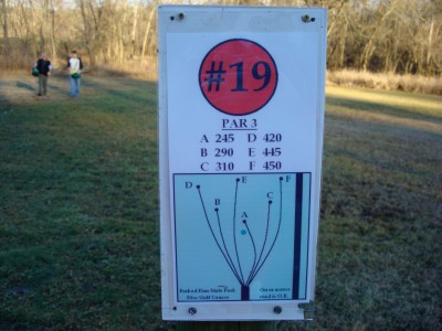 Forked Run State Park, Main course, Hole 19 Hole sign