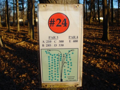 Forked Run State Park, Main course, Hole 24 Hole sign