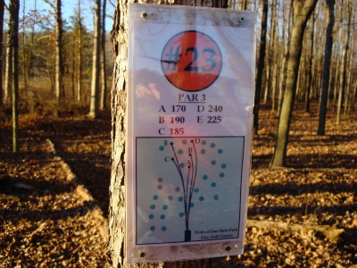 Forked Run State Park, Main course, Hole 23 Hole sign
