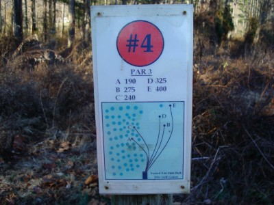 Forked Run State Park, Main course, Hole 4 Hole sign