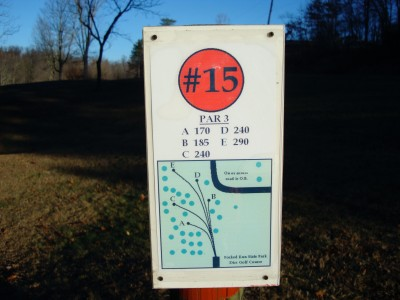 Forked Run State Park, Main course, Hole 15 Hole sign