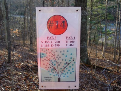Forked Run State Park, Main course, Hole 14 Hole sign