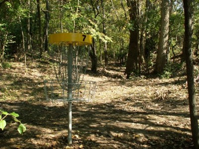 Buck Creek State Park, Main course, Hole 7 Reverse (back up the fairway)