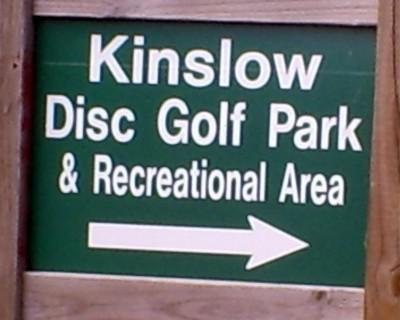 Kinslow, Main course, Hole 1 Hole sign