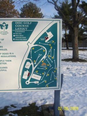 Ottawa Park, Main course, Hole 1 Hole sign