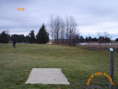 Kent State University - Trumbull, Main course, Hole 7 Tee pad