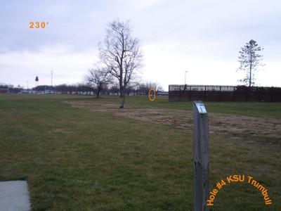Kent State University - Trumbull, Main course, Hole 4 Tee pad