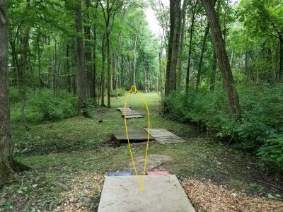 Findley State Park, Main course, Hole 13 Tee pad