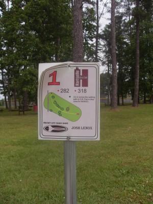 Sparkman Park, Main course, Hole 1 Hole sign