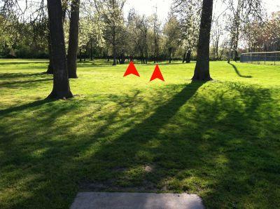 Bryant Park, Main course, Hole 2 Tee pad