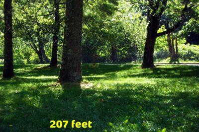 Benson State Park, Main course, Hole 9 Tee pad