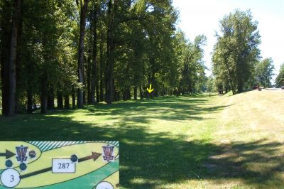 Rooster Rock, West, Hole 3 Tee pad