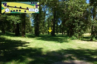 Rooster Rock, West, Hole 8 Tee pad