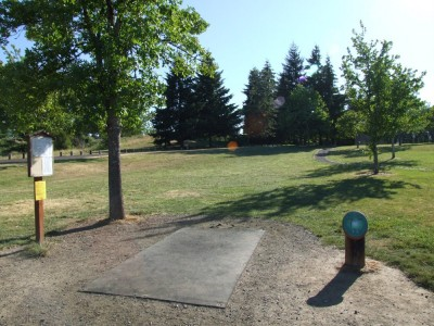 Adair Park, Main course, Hole 1 Tee pad