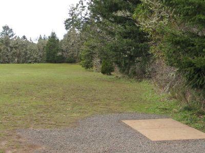 Dexter Park, Main course, Hole 2 Tee pad