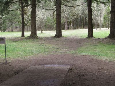 Dexter Park, Main course, Hole 16 Tee pad