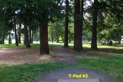 Timber Park, Main course, Hole 2 Tee pad