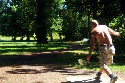 Timber Park, Main course, Hole 12 Tee pad