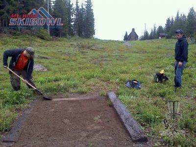 Mt. Hood Ski Bowl, Main course, Hole 6 Tee pad