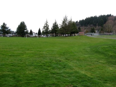 Portland Adventist Elementary School, Main course, Hole 8 Tee pad