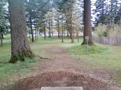 Vance Park, Main course, Hole 5 Tee pad